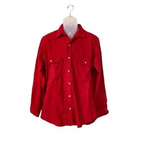 Cozy Red Lumberjack Style Button Down Shirt